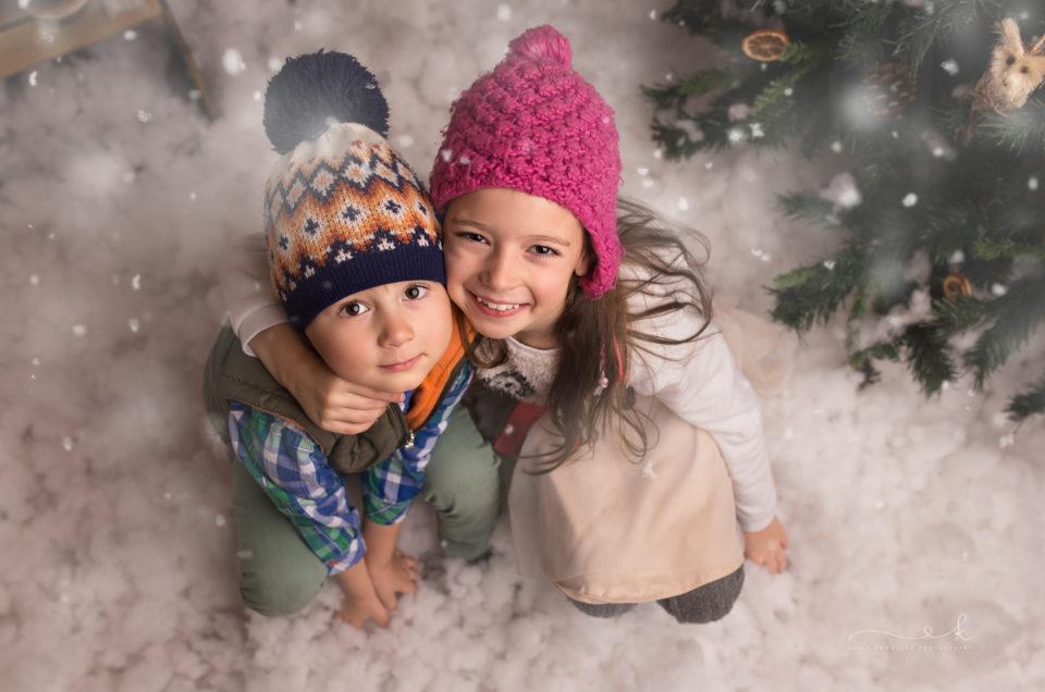 Świąteczna mini sesja – Hania i Henio