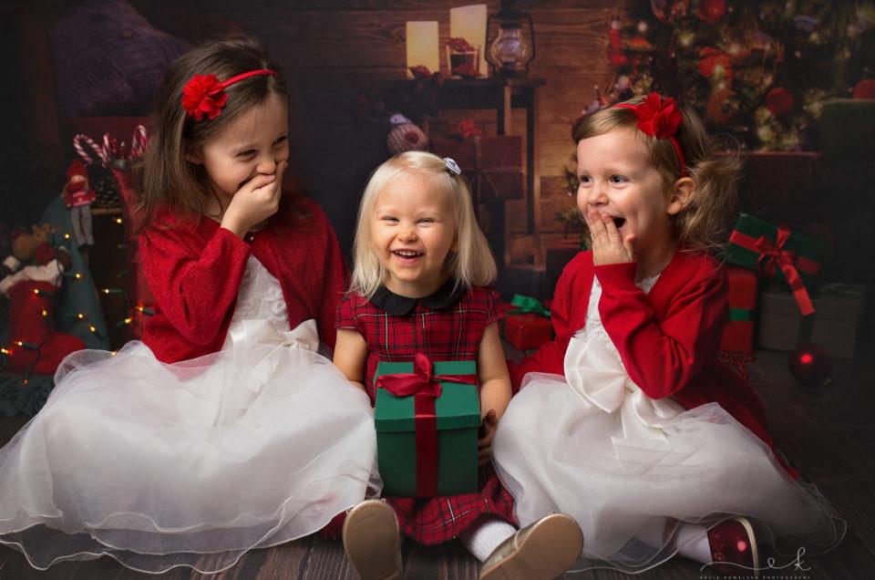 Świąteczna mini sesja Zosi i Mikołaja