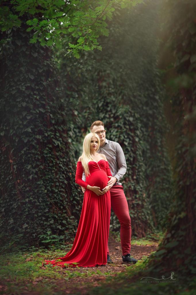 romantyczna sesja ciążowa