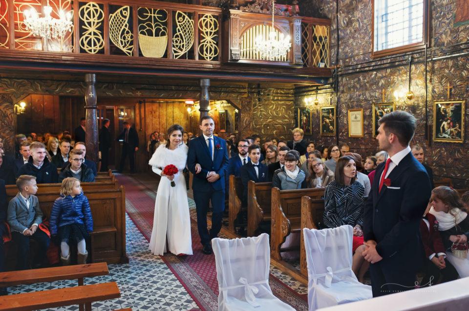 Natalia i Dawid – ślub w Woźnikach