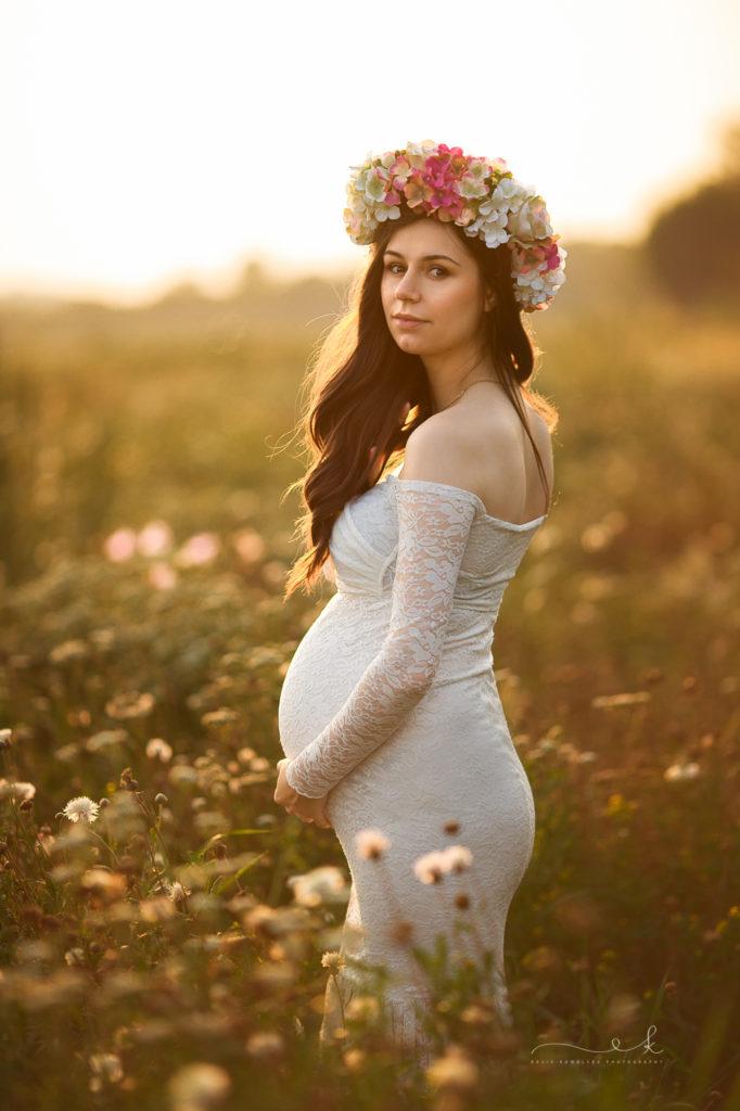sesja ciążowa w makach