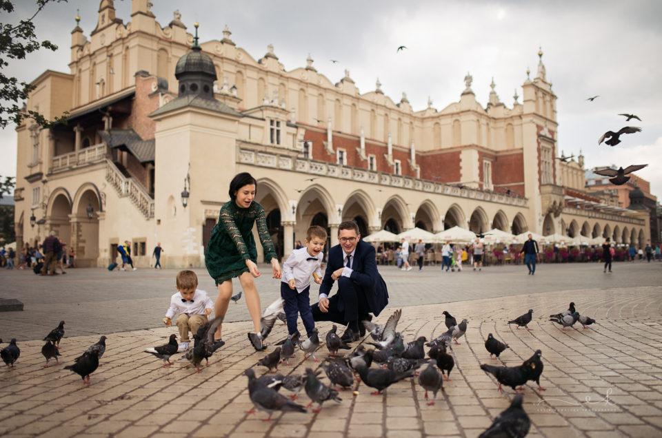Sesja rodzinna z okazji rocznicy ślubu w Krakowie