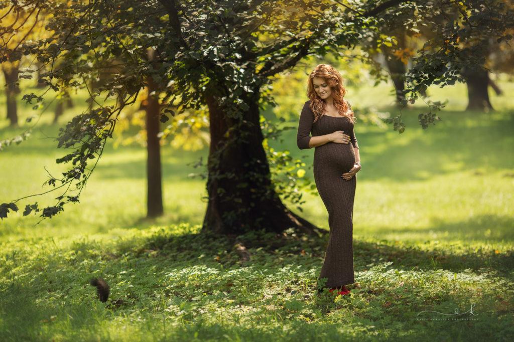 jesienna sesja ciążowa
