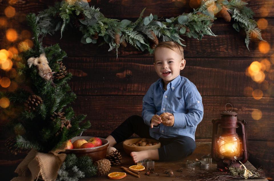 Świąteczna mini sesja Mikołaja