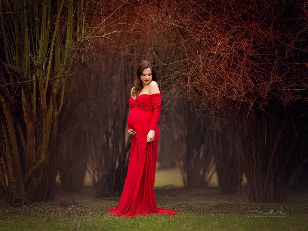 wiosenna mini sesja ciążowa